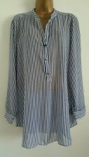 V Neck Blouses Striped Plus Size Tops & Shirts for Women