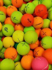 25 VARIOUS BRANDS OF MATTE FINISH COLOURED GOLF BALLS - GRADE A/B - CLEARANCE