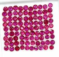 NATURAL RED RUBY 2 MM ROUND FACETED CUT LOOSE AAA QUALITY GEMSTONE LOT GF