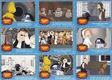 FAMILY GUY BLUE HARVEST STAR WARS 2007 INKWORKS PROMO CARD SET OF 12