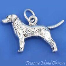 Labrador Retriever Lab Dog Breed 3D .925 Solid Sterling Silver Charm Pendant