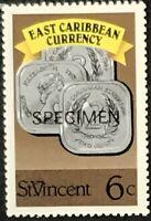 St. Vincent #1070 MNH Specimen CV$0.50 East Caribbean Currency Coins Perf 13 1/2