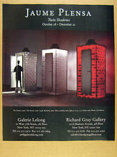 2000 Jaume Plensa Twin Shadows sculptures photo NYC gallery vintage print Ad
