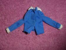 Vintage Skipper Doll Clothes - MOD Era Skipper Blue Tricot Blouse, White Trim