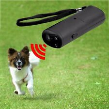 Ultrasonic Dog Pet Repelled Training Device Trainer 3 in 1 Control Device New