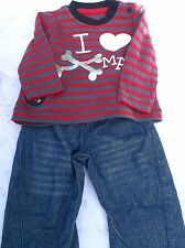 BRAND>NEW>TWO>PIECE>SET>I>LOVE>XMAS>TOP>AND>TROUSERS> 3-6 MONTHS