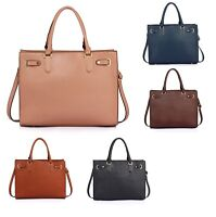 Women's Classy Large Tote Shoulder Bag Handbag Faux Leather Spacious Bag 0521