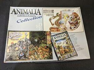 Animalia Collection 2x150pc Puzzles Vintage 1986 Complete Elephants Dragons
