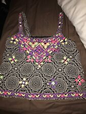 Aztec Design Crop Top With Embellishments By Atmosphere Primark Size 10