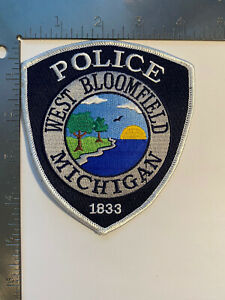 WEST BLOOMFIELD MICHIGAN POLICE 1833 PATCH