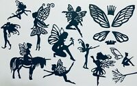 11 DIFFERENT INTRICATE FANCY FAIRIES /FAIRY DIE CUT /CUTS EMBELLISHMENTS-Lot 2#