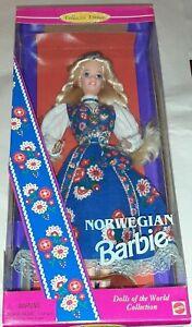 1995 Mattel Barbie Dolls of the World Collection Norway Norwegian Barbie NOS NIB