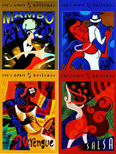 #UX445 - UX448  Lets Dance Postal Card set/4 -MInt