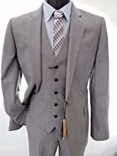 JAEGER Grey Classic-Fit 3 Piece SUIT sz UK 38L Long RRP £459 BNWT