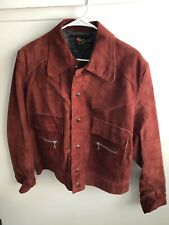 Vintage Reed Sportswear Suede Leather (short waisted) Jacket • Wine Color • USA
