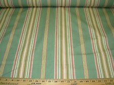 "~15 YDS~ANIMALS ""FERRIS""~STRIPE COTTON UPHOLSTERY FABRIC FOR LESS~"