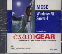ExamGear MCSE Windows NT Server 4 Exam 70-067 Premium Exam Prep Software Sealed