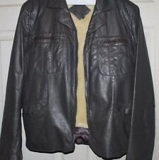 VINTAGE Gray Leather Bomber/Flight Motorcycle Jacket Size 44