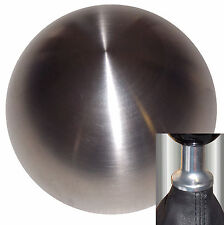 Brushed Stainless Steel shift knob kit fits non-threaded VW Audi 5 6 spd