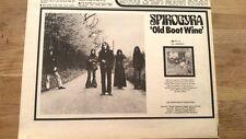 SPYROGYRA Old Boot Wine 1972 UK Press ADVERT 12x8 inches