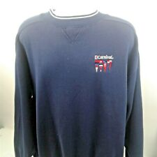 Carnival Mens Blue With White Trim Long Sleeve Sweatshirt size L/XL