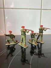 Starlux 4 Beret rouge commando WWII 2 eme guerre mondiale