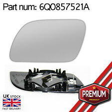 Original Heated Mirror Glass With Base Left Side For VW Volkswagen Polo 02-05