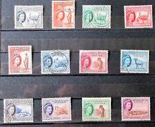 J6 - SOMALILAND 1953 / 58 SET COMPLETE, FINE USED ON STOCK-CARD.