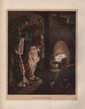 "TISSOT JESUS CHROMO-LITHO PRINT - ""THE ADORATION OF THE MAGI "" (1897)"