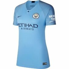 Nike Manchester City Season 2018 - 2019  Womens Soccer Home Jersey Sky Blue