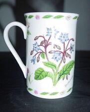 KENT POTTERY 1887 COFFEE MUG / CUP FINE CHINA HERBS CHIVE SAGE BORAGE PLANTS vtm