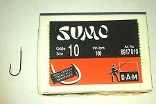 DAM Sumo Haken Gr. 10 Aberdeen  Plättchenhaken 100 Stück Angelhaken brüniert