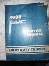 Original, 1981 Gmc Truck Chasis Service Manual, Light Duty Trucks, 10-35