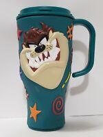 1998 Tazmanian Devil Cup Warner Bros Applause 3D Coffee Mug Dark Green NO Lid