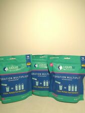 (LOT OF 3) Liquid IV Hydration Multiplier Electrolyte Drink Mix 16 Stick Pack