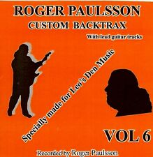 ROGER PAULSSON - SHADOWS STYLE - BACKING TRACK  CD  Vol.6   With & without lead.