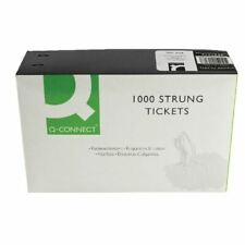 More details for strung ticket 37x24mm white pk1000 - kf01618