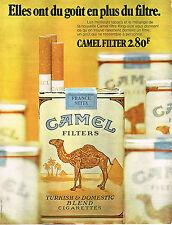 PUBLICITE ADVERTISING  1971   CAMEL  cigarettes