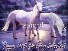 Mystical HORSES Edible CAKE Image Icing Topper Decoration FREE SHIPPING