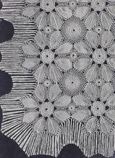 Vintage Crochet PATTERN Motif Bedspread Sunburst Leaf
