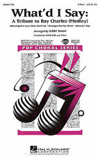 Whatd I Say A Tribute to Ray Charles Vocal Choral Voice Learn Music Book