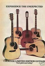 1976 Hohner Limited Edition Guitar Print Ad