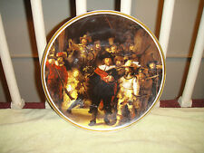 Antique Selb Bavaria Germany Heinrich Cabinet Plate-H & C-Rembrant's Night Watch