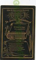 Cabinet Photo - PAPE Family Memorial Card-D) 1891 (Wm)