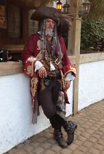 Custom Captain Teague Renaissance Pirate Potc frock coat complete 4pc cost