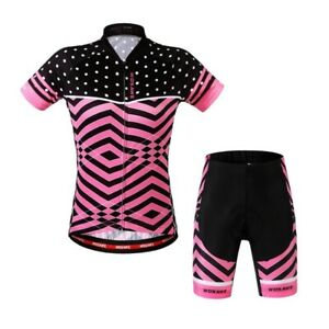 Verano Mujeres Ciclismo Jerseys Conjuntos Bicicleta Pantalones Cortos Camisas