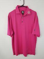 EUC ~ Mens Medium Footjoy Titleist Lightweight Pink Athletic Shirt Polo S/S
