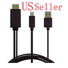 Micro USB 2.0 To HDMI 1080P HDTV Adapter Cable For Samsung Galaxy Note 2 3 4