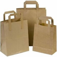 More details for 25 small brown kraft paper sos carrier bags with handles 7