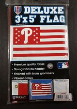 Philadelphia Phillies WinCraft Deluxe Stars & Stripes 3' x 5' Flag NEW